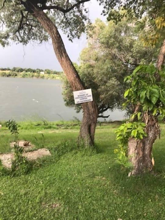 Be aware of crocodiles Hotel Protea Zambezi River