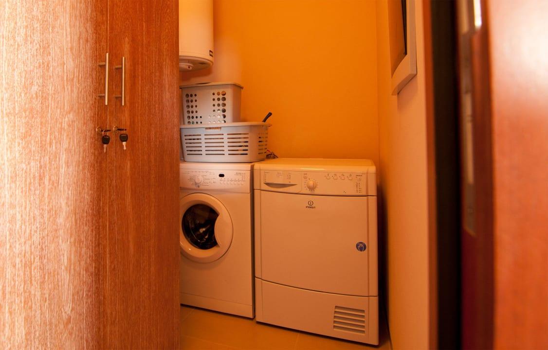 Washer and dryer inside apartment La Maya Beach Curacao Resort