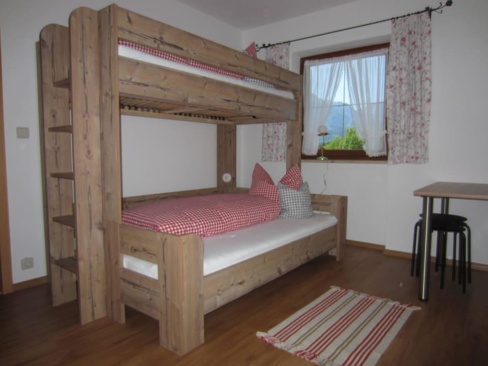 Stockbett in der Ferienwohnung Zwiesel Kochhof