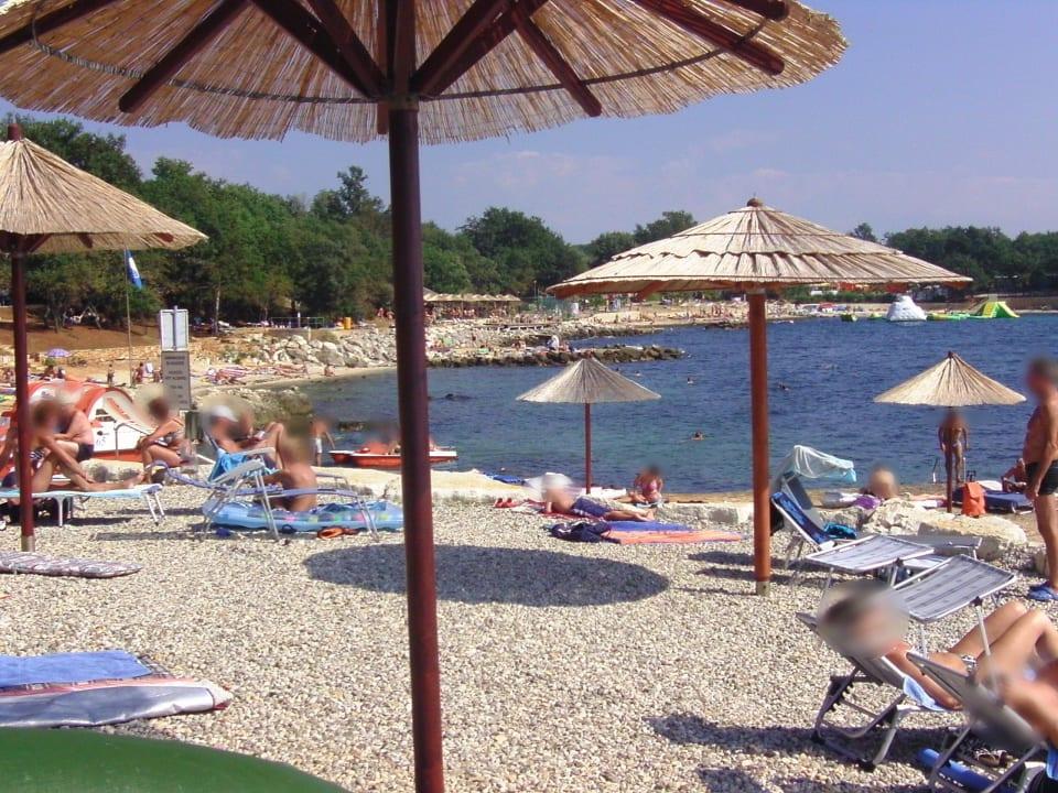 Mobilheime am Strand in Campingplatz Lanterna bei Porec in