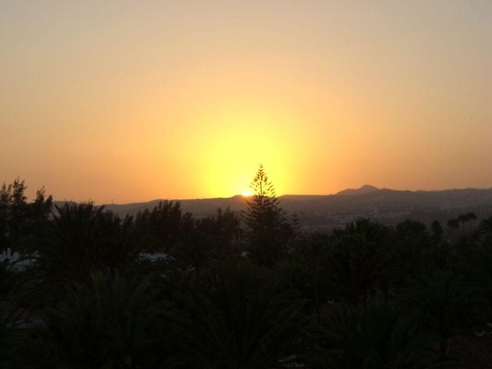 Sonnenuntergang vom Balkon aus Abora Catarina by Lopesan Hotels