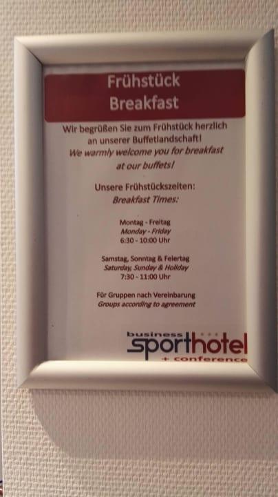 Frühstück Business & Conference Sporthotel Großwallstadt
