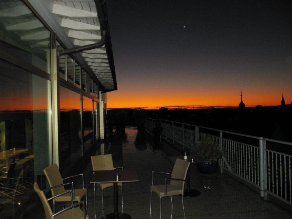 Dachterrasse - Sonnenuntergang Hotel Viva Sky