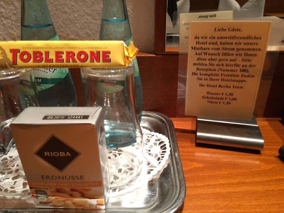 Minibar-Info Hotel Berlin