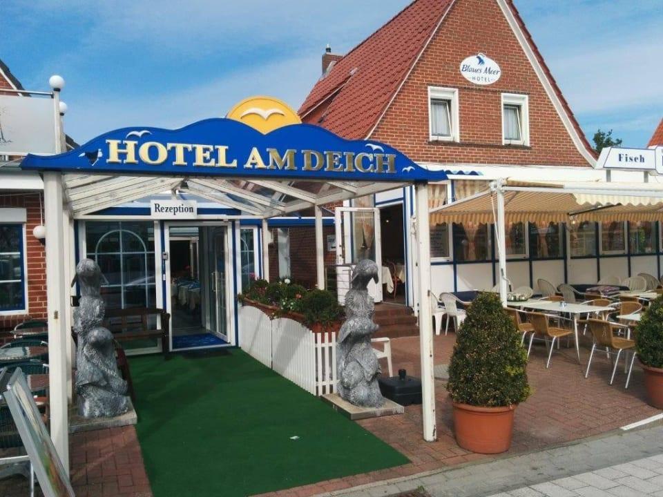 Zugang zum Hotel Hotel am Deich