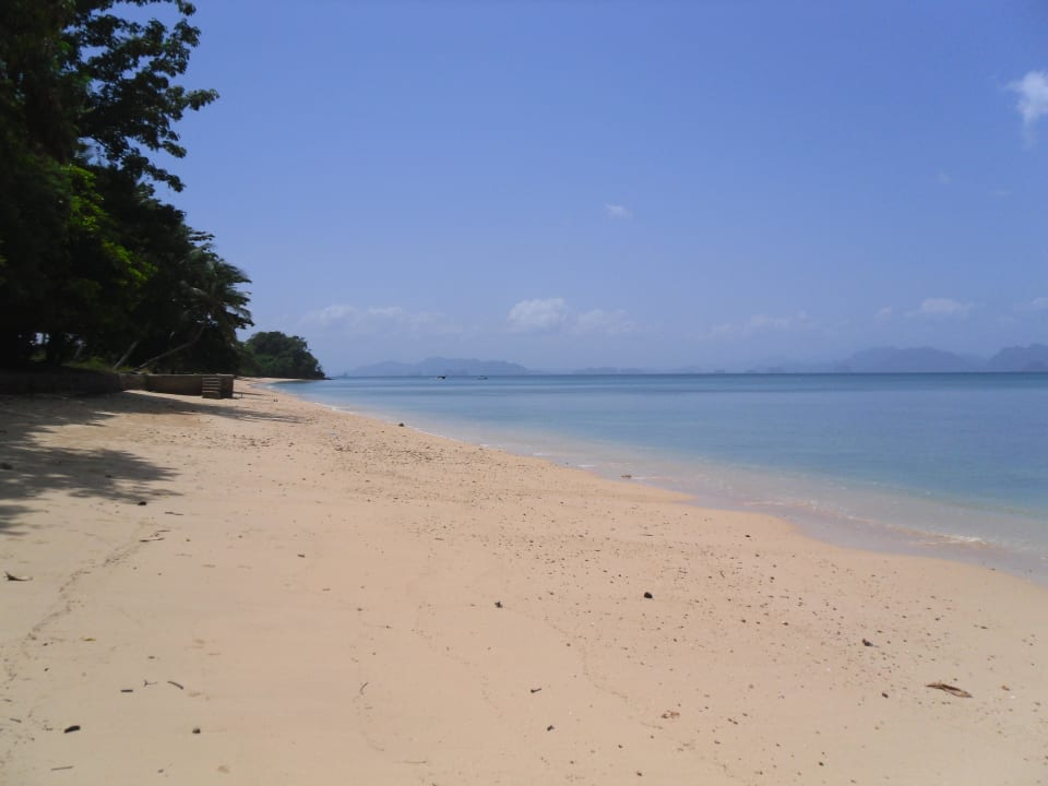 Einsamer Strand auf Yao Noi Hotel Six Senses Yao Noi