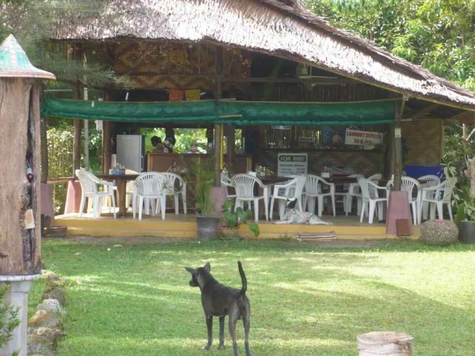 Restaurant mit Hund Lake View Bungalows