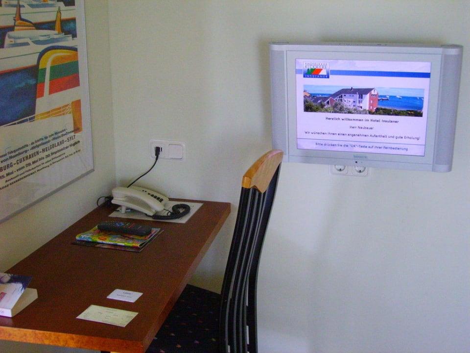 Kleiner Schreibtisch Hotel Rickmers Insulaner