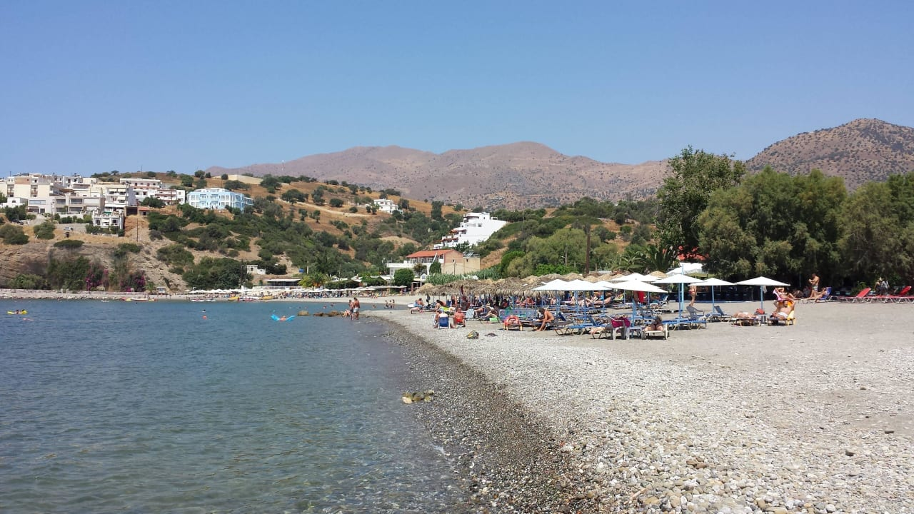 Steinstrand von Agia Galini Hotel Minos