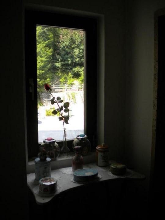 Corridor window Hotel Cima Belpra