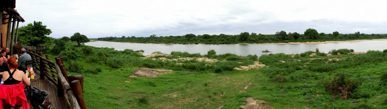 Blick auf den Sabie River Restcamp Lower Sabie
