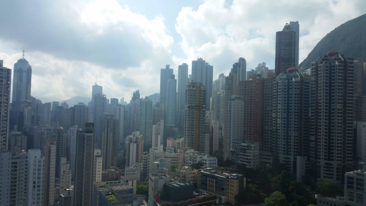 View from hotel room Ramada Hong Kong Harbour View