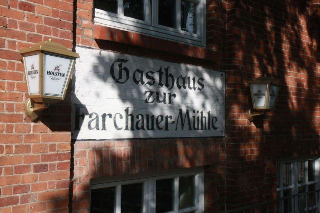 Altes Schild Hotel Farchauer Mühle