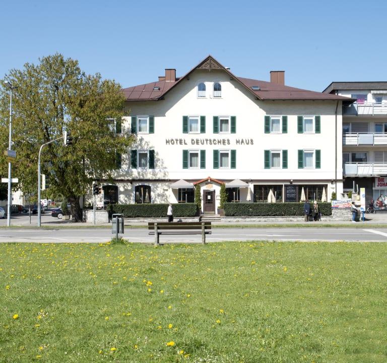 Außenansicht Hotel Deutsches Haus / Anno 1898