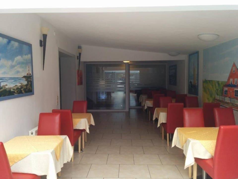 Der Frühstücksbereich Hotel am Deich