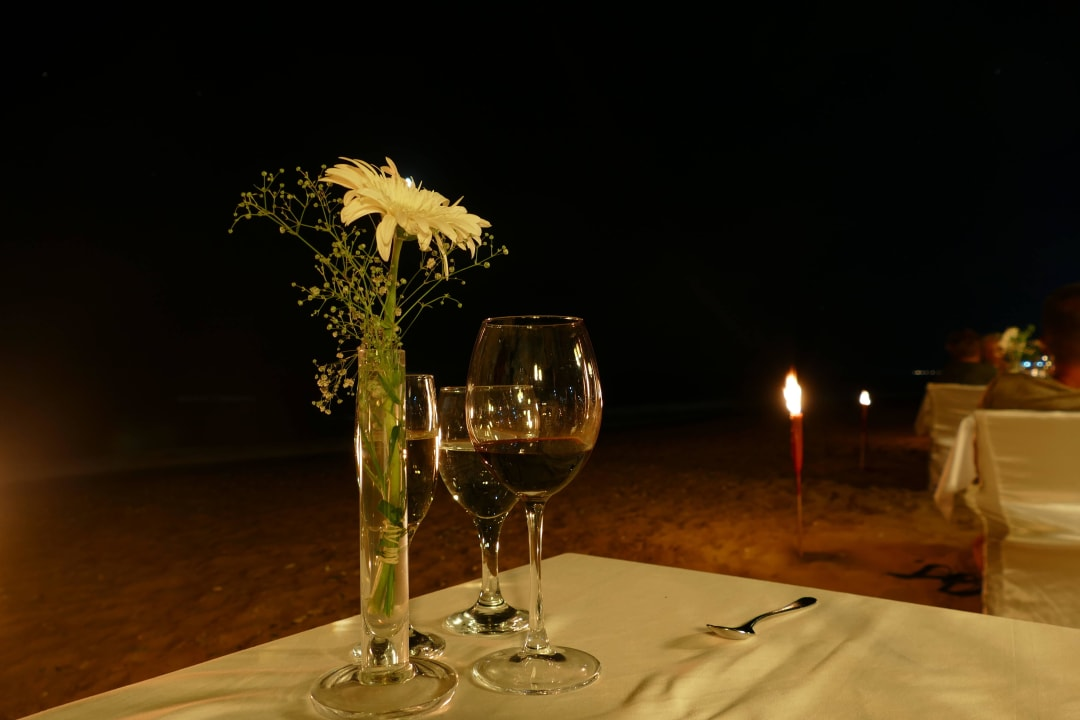 Candle-Light-Dinner am Stand Aldiana Side  (Vorgänger-Hotel – existiert nicht mehr)