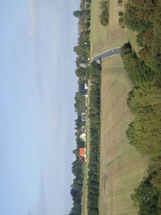 Blick auf Dröbischau Landgasthof Kemter