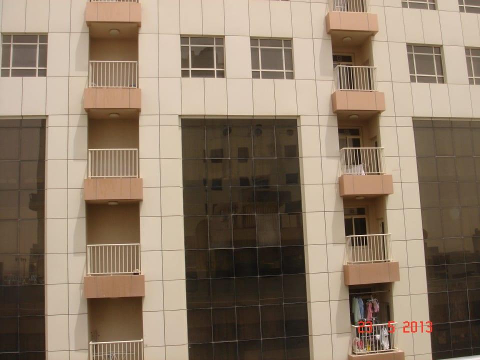 Ausicht aus unserem Fenster Grandeur Hotel