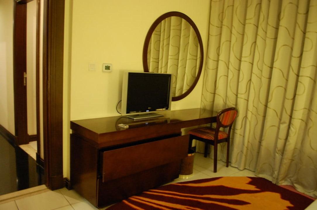 Teil des Schlafzimmers Flora Park Deluxe Hotel Apartments
