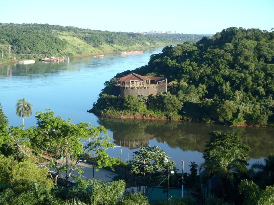 River view (Brazil other side) from room Hotel Amerian Portal Del Iguazu