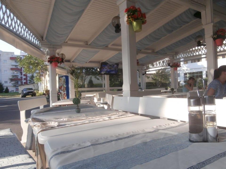 Zewnętrzna część restauracji Hotel Pliska
