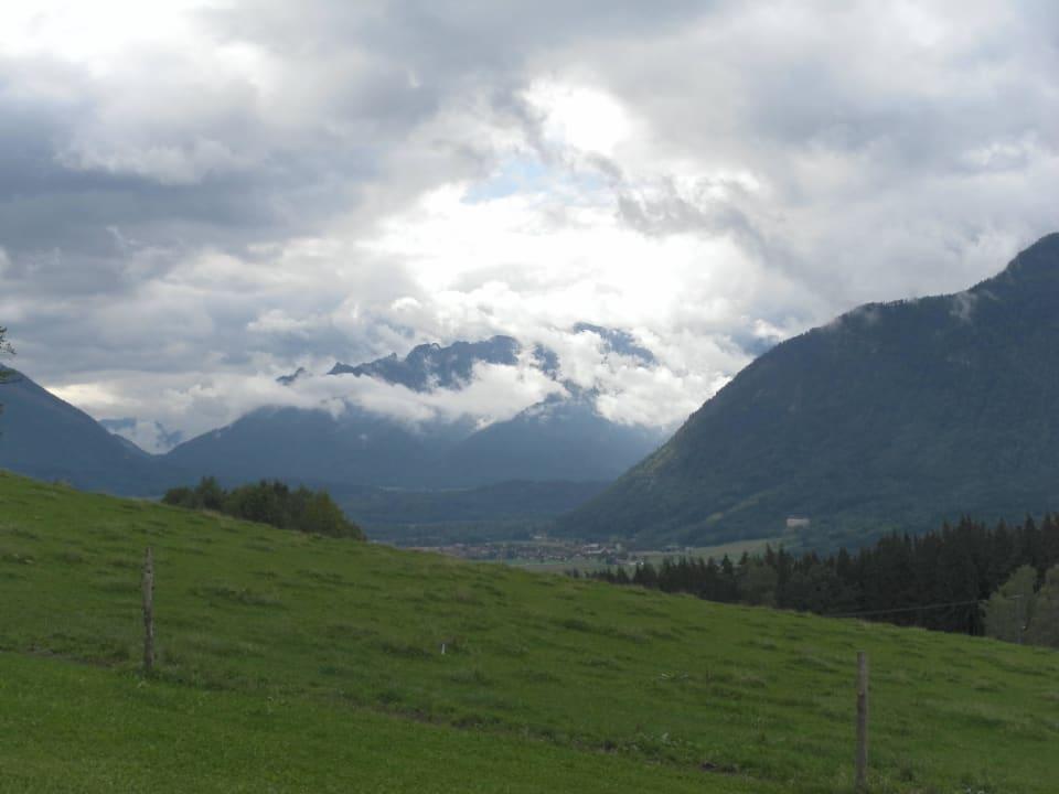 Leider schlechtes Wetter, aber tolle Aussicht! Kochhof