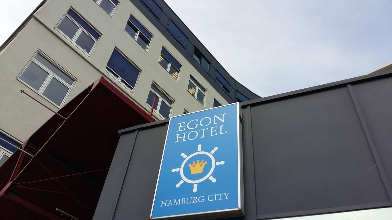 Hausfassade vom Hotel (früher Zleephotel) Egon Hotel Hamburg City