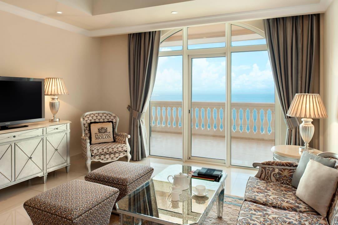 Ocean 2 Bedroom Suite - living room Kempinski Hotel & Residences Palm Jumeirah