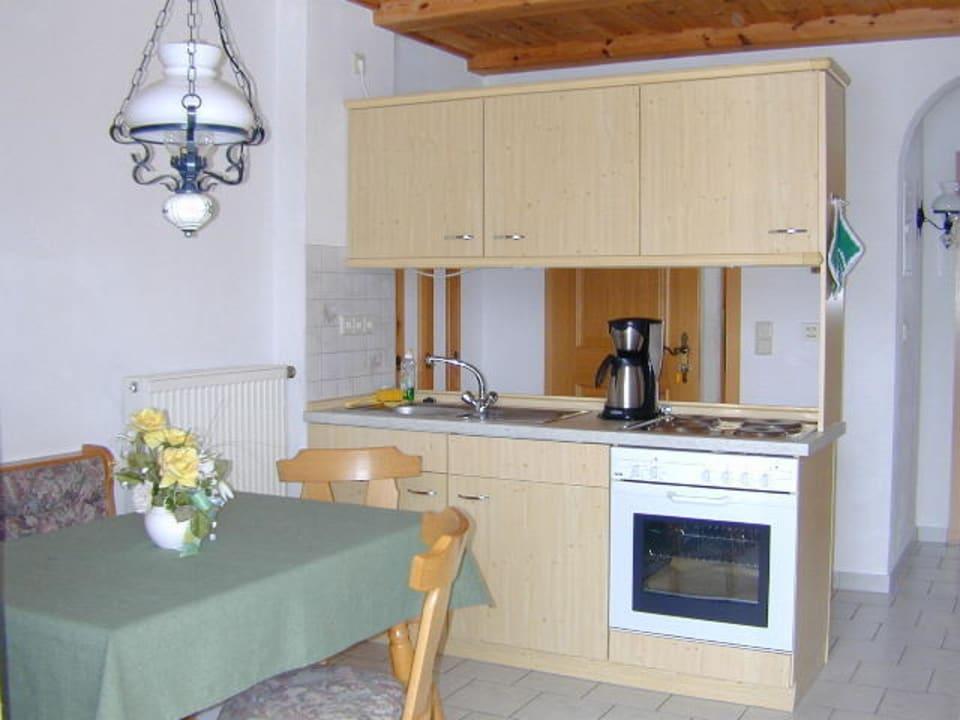 Wohnküche in der Ferienwohnung Kochhof