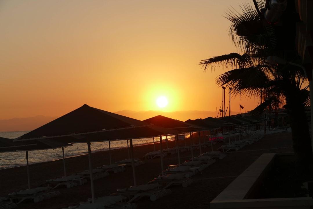 Sonnenuntergang Aldiana Side  (Vorgänger-Hotel – existiert nicht mehr)