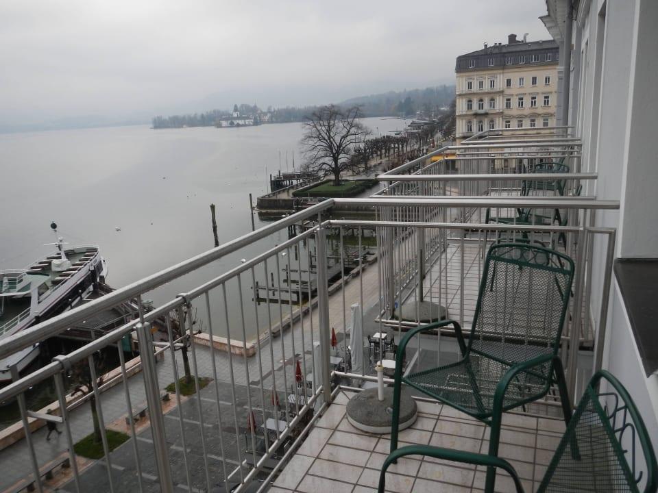 Zimmer mit Balkon zum See Seehotel Schwan