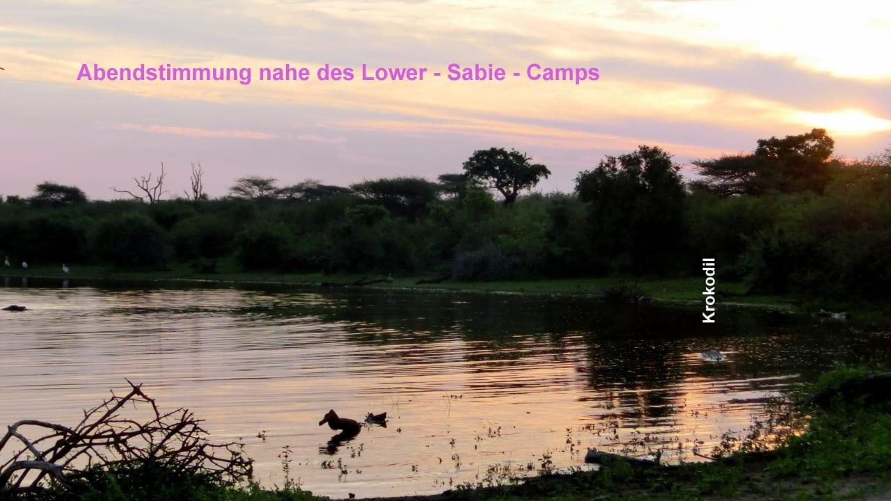 Hippopool mit Wildbeobachtung, ca.1km Restcamp Lower Sabie