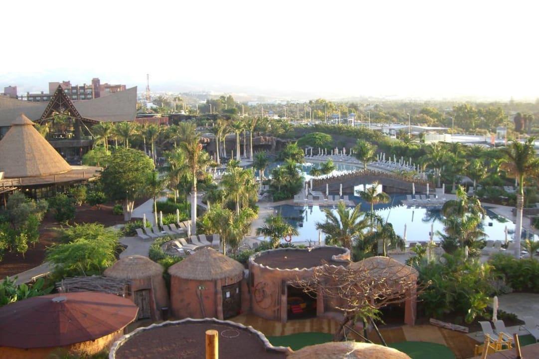 Ausblick von unserem Balkon Lopesan Baobab Resort