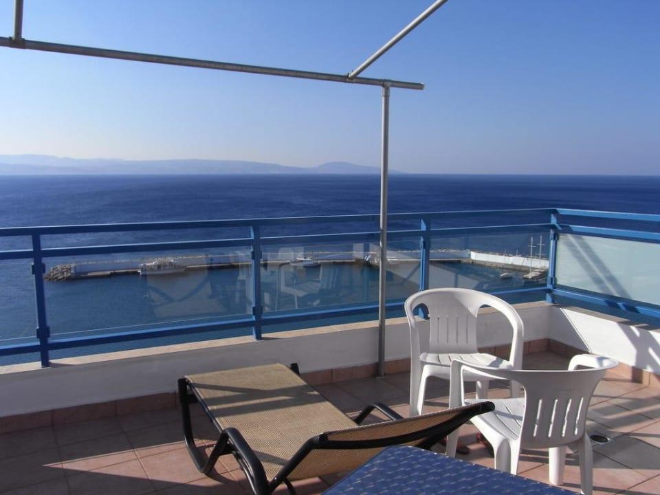 Traumhafter Ausblick vom Balkon Hotel Minos