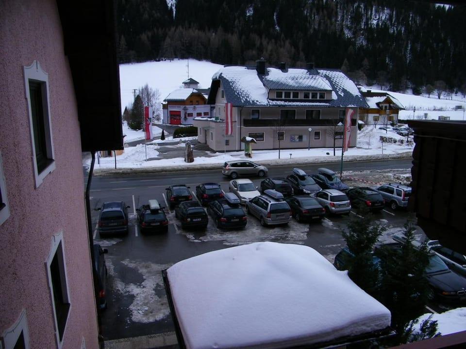Blick vom Balkon (Familienzimmer Nr. 27) Hotel Twengerhof