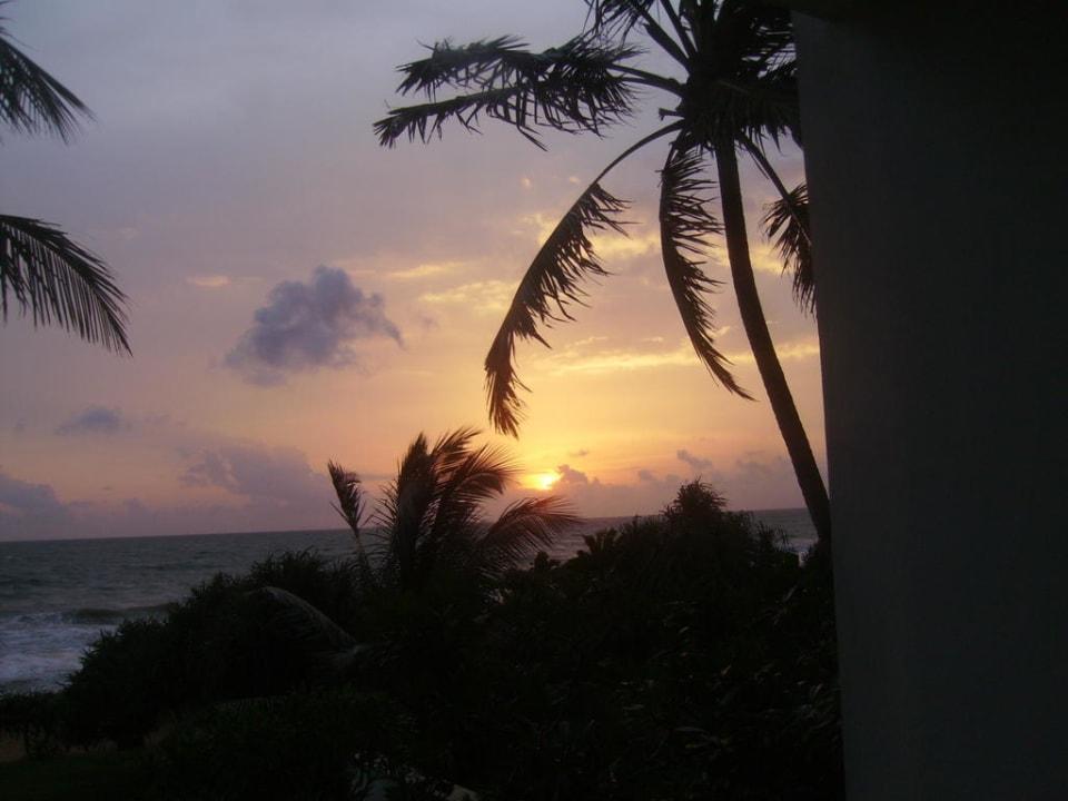 Sonnenuntergang von Zimmer 4 Resort & Spa Temple Tree