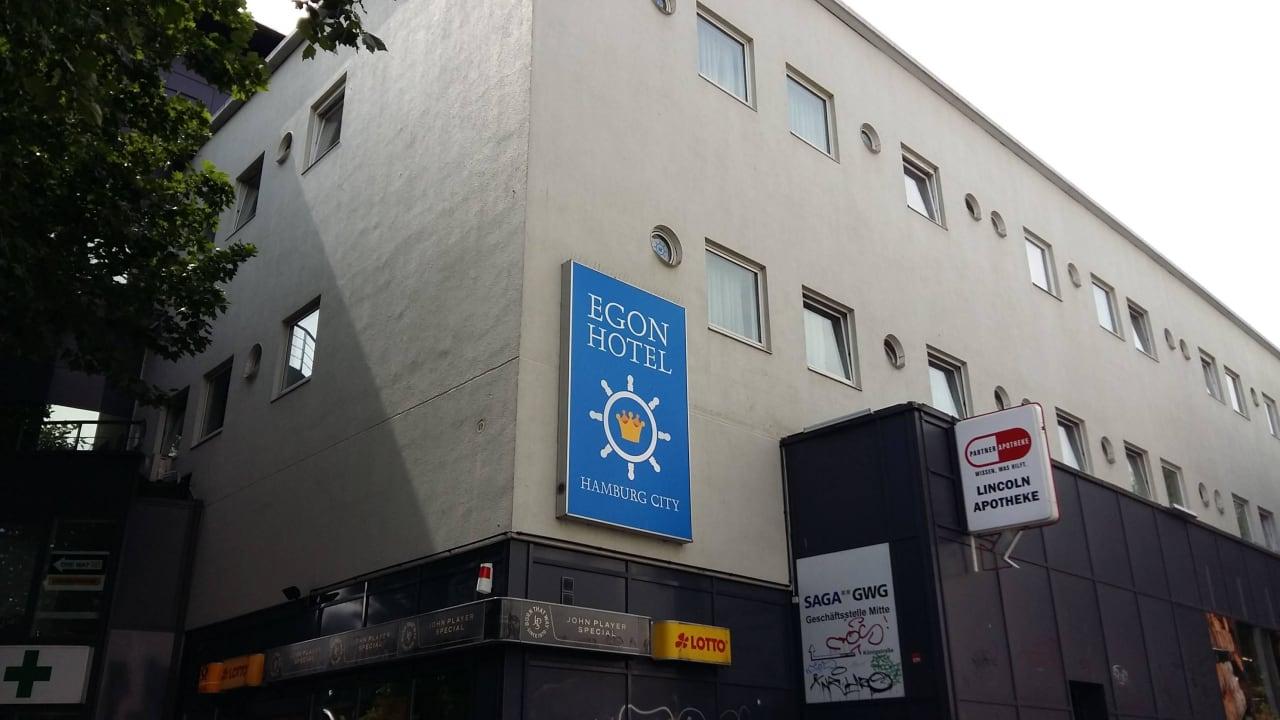 Hausfassade vom Hotel 8früher Zleephotel) Egon Hotel Hamburg City