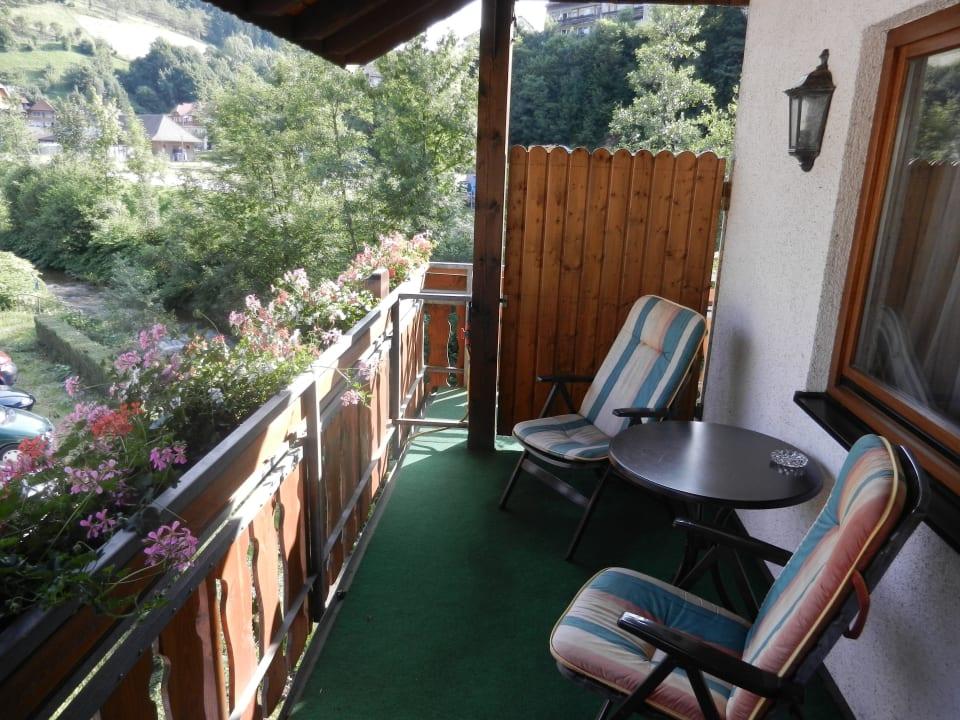 Balkon von Zimmer 17 Hotel Döttelbacher Mühle