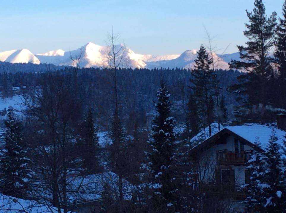 Blick vom Balkon Ferienwohnung Karwendelherzen