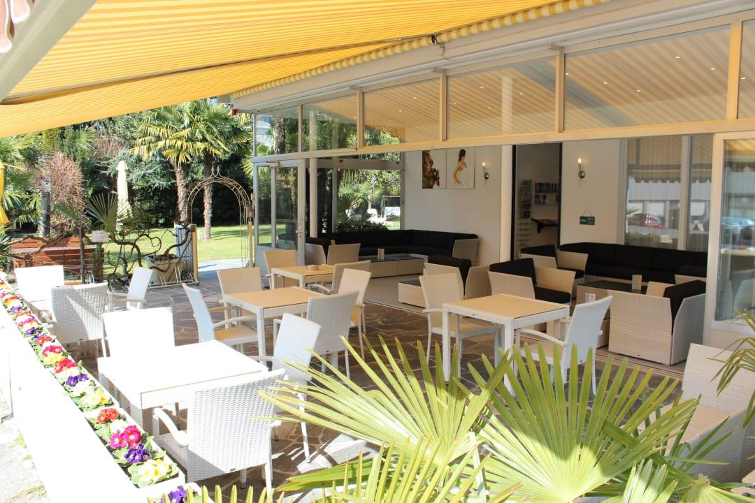 Terrasse und Garten Hotel Luna