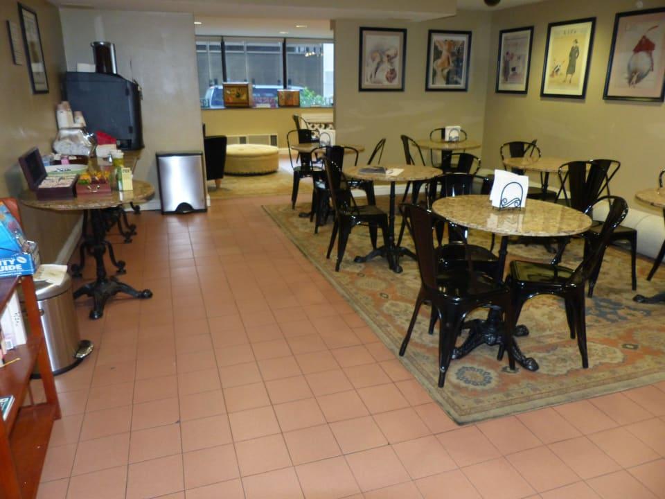 Aufenthaltsraum mit Kaffeemaschine Herald Square Hotel