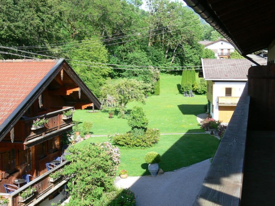 Blick in den Garten Der Lederer Hof - Boutique Hotel & Apartments
