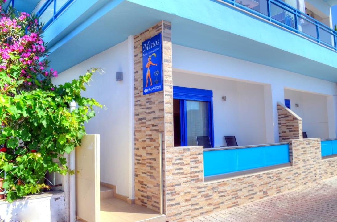 Außenansicht Hotel Minos