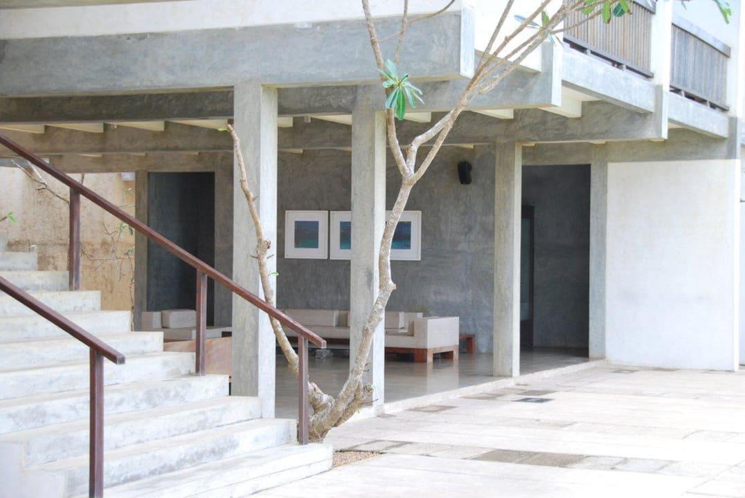 Teil der Empfangshalle Resort & Spa Temple Tree