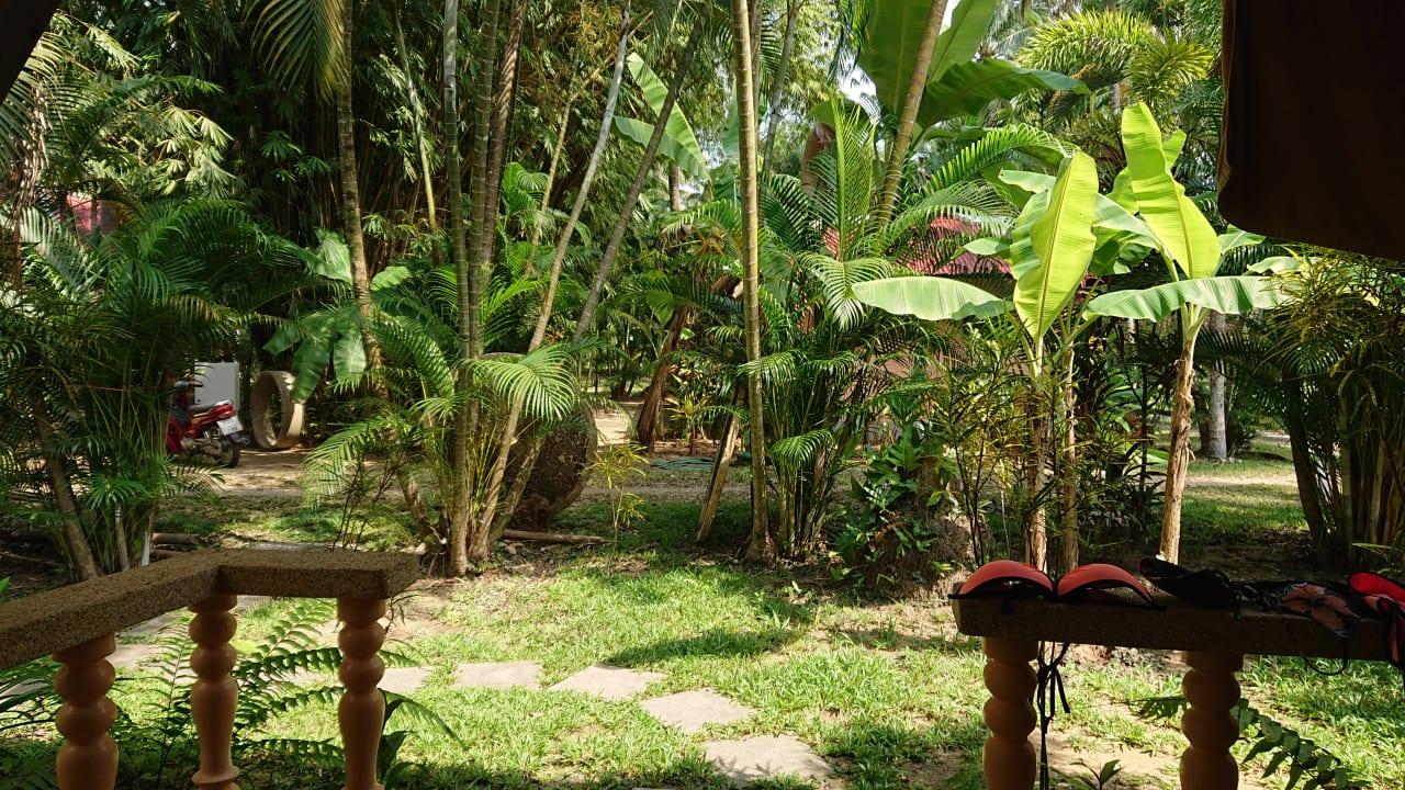Gartenanlage Lake View Bungalows