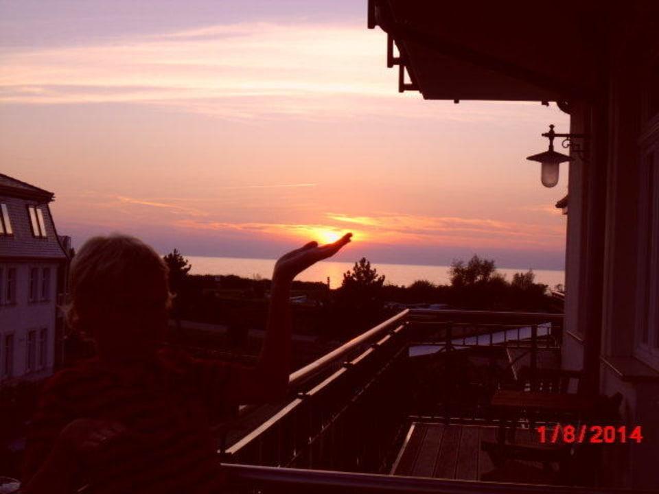 Sonnenuntergang Strandschloss Arielle