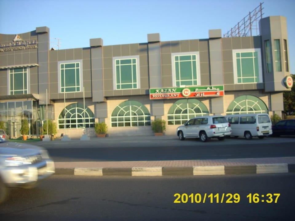 Blick auf die Meerblickzimmer Al Seef Beach Hotel