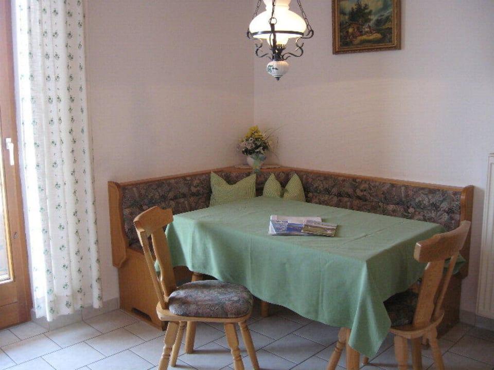 Gemütliche Eckbank in der Ferienwohnung Kochhof