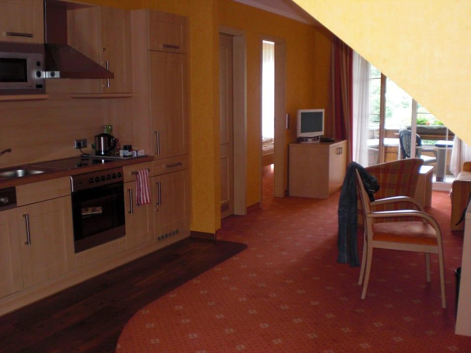 Wohn und Küchenbereich Landhaus Bergkrone