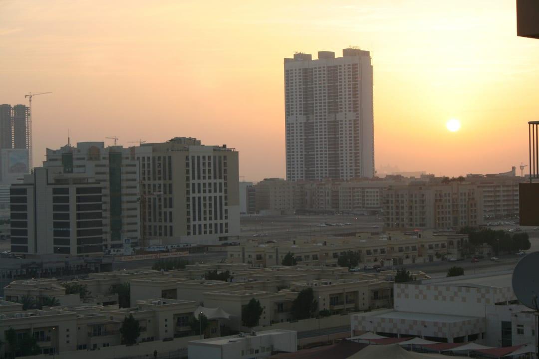 Ausblick von der Dachterrasse Grandeur Hotel